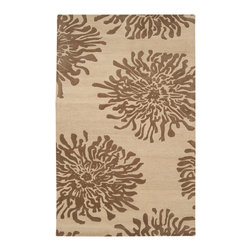 """Surya - Surya Bombay BST-493 (Light Brown Beige) 2'6"""" x 8' Rug - Ranging from transitional to traditional and contemporary, the Bombay collection features a series of versatile designs to complement any decor. Hand-tufted in India, each rug is produced from finest hand-spun and twisted New Zealand yarn to provide special texture."""