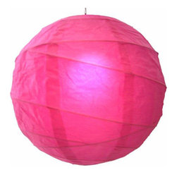 """Oriental-Decor - Wedding Rose-Pink Globe Lantern, 16"""" - This beautiful lantern is a color combination of red and pink, giving it the fire and passion of red along with the sensual and calming feel of pink. Red is associated with wealth, happiness and romance in Asian culture. Perfect for weddings, parties or just creating a stunning decorative effect, this rose-pink paper lantern will look spectacular in any location."""