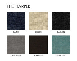 Apt2B.com - Harper Chair Natural Wood Base Request A Sample Of Fabric Swatches - If there were ever a sexy chair it would be this one. Classic lines that will never go out of style and a solid wood base completes this sleek modern look.