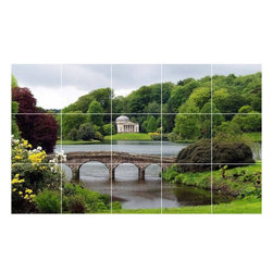 Picture-Tiles, LLC - Bridge Photo Bathroom Shower Tile Mural  24 x 40 - * Bridge Photo Bathroom Shower Tile Mural 1352
