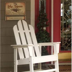 Fifthroom - POLYWOOD Long Island Rocker - Soak in the lazy sun of an island afternoon with this Adirondack-style polywood rocker.  Outdoor rocking chairs do well on any porch, patio, or outdoor living area.  The study polywood will withstand any weather condition and is maintenance-free, so your relaxed mindset will never be broken.  Available in 12 eye-catching colors, you can create a rainbow of outdoor rockers.