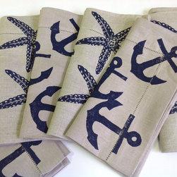 Coastal Hand Block Printed Linens -