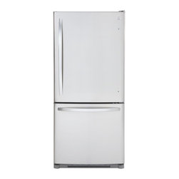 Kenmore Bottom Freezer Refrigerator - This fridge has the slim line and the commercial look of a more expensive model.