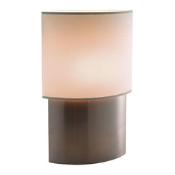 Adesso - Adesso Sophia Tall Table Lamp - Each Sophia table lamp has an almond shaped satin steel base with an almond shaped PVC-lined Thai silk shade. On/off line switch. 60 Watt 60 Watt incandescent or 13 Watt CFL bulb. 22 in Height. Base: 10 in Height, 12 in Width, 5 in Depth. Shade: 12 in Height, 13.5 in Width, 6 in Depth.