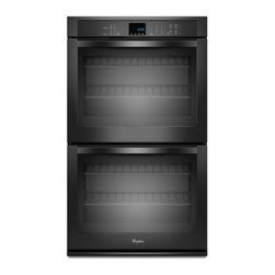 "Whirlpool - WOD51EC7AB 27"" Double Electric Wall Oven With 4.3 Cu. Ft. Per Oven  Self-Cleanin - The Whirlpool WOD51EC7A features a great43 cu ft capacity This Double Wall Oven will satisfy your every need With SteamClean option you wont have to worry about cleaning this oven very often This oven is a must have and it also looks great"