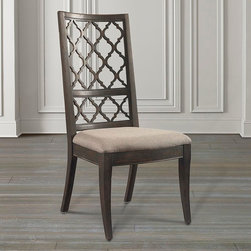 Emporium Open Fret Side Chair by Bassett Furniture - Can be customized with your choice of fabric or leather, at additional charge.