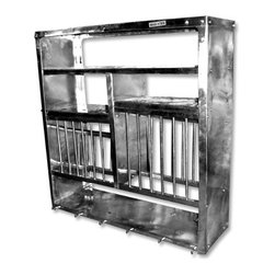 A Middle Stainless Steel Plate Rack -