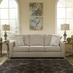 Signature Design by Ashley - Signature Design by Ashley Alenya Quartz Sofa - Muted, neutral tones give this Alenya sofa from Ashley Furniture and inviting look. Able to be integrated into any modern home setting, this sofa comes in a sleeper option to accommodate overnight guests with a comfortable queen-size bed.