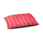 """DiaNoche Designs - Dog Pet Bed Fleece - Herringbone Red - DiaNoche Designs works with artists from around the world to bring unique, designer products to decorate all aspects of your home.  Our artistic Pet Beds will be the talk of every guest to visit your home!  BARK! BARK! BARK!  MEOW...  Meow...  Reallly means, """"Hey everybody!  Look at my cool bed!""""  Our Pet Beds are topped with a snuggly fuzzy coral fleece and a durable underside material.  Machine Wash upon arrival for maximum softness.  MADE IN THE USA."""