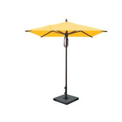 Greencorner - 6.5'x6.5' Mahogany Umbrella, Sunflower Yellow - 6.5'x6.5' Square