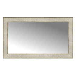 "Posters 2 Prints, LLC - 27"" x 16"" Libretto Antique Silver Custom Framed Mirror - 27"" x 16"" Custom Framed Mirror made by Posters 2 Prints. Standard glass with unrivaled selection of crafted mirror frames.  Protected with category II safety backing to keep glass fragments together should the mirror be accidentally broken.  Safe arrival guaranteed.  Made in the United States of America"