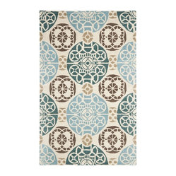 Safavieh - Contemporary Wyndham 8'x10' Rectangle Beige - Blue Area Rug - The Wyndham area rug Collection offers an affordable assortment of Contemporary stylings. Wyndham features a blend of natural Beige - Blue color. Hand Tufted of Wool the Wyndham Collection is an intriguing compliment to any decor.