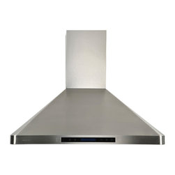Cavaliere - Cavaliere-Euro AP238-PS31-36 Stainless Steel Wall Mount Range Hood - Cavaliere Stainless Steel 288W Wall Mounted Range Hoods with 4 Speeds, Timer Function, LCD Keypad, Stainless Steel Baffle Filters, and Halogen Lights.