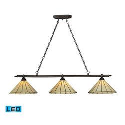 Elk Lighting - Elk Lighting 70108-3-LED Lumino Transitional Island Light in Matte Black - Elk Lighting 70108-3-LED Lumino Transitional Island Light in Matte Black