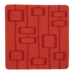 Manfred, Hand-Tufted Wool Rug - With masculine lines and shapes that spur our imagination, the Manfred design adds an element of tailored, modern design to a room. Hand-tufted with 100% New Zealand wool. Cut and loop pile.