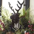 Stag Adjustable Door Wreath Hanger - Knock, knock — this is the perfect addition to your front door. Don't forget to monogram it!
