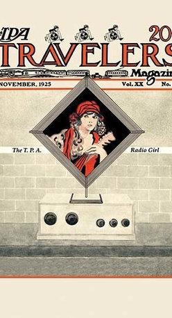 "Buyenlarge.com, Inc. - The T.P.A. Radio Girl - Canvas Poster 20"" x 30"" - Radio, TV. Wireless, Telegraph, Television"