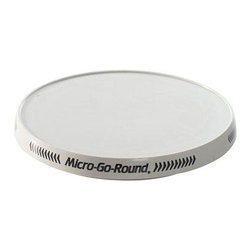 """Nordic Ware - Nw 10"""" Original Micro Go Round - The Nordic Ware Compact Micro-Go-Round is recommended for mid-size and full size ovens. Automatic start/stop-weight activated switch starts unit when food is placed on it and shuts off when food is removed. Easily accommodates up to 8 pounds yet is activated by only a few ounces. Dependable silent running spring powered mechanism runs approximately 30 minutes. This item cannot be shipped to APO/FPO addresses. Please accept our apologies."""