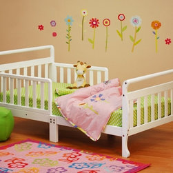 AFG Baby Furniture - Athena Anna Toddler Bed in White - The Anna Wooden Toddler Bed is beautifully finished with an elegant sleigh design. The main structure is made of solid pine wood and the slats are made of composite wood. The bed is equipped with two guardrails to facilitate easy access and prevent your child from falling out.Additional supports for enhanced sturdiness in the center of the bed were designed with safety in mind.