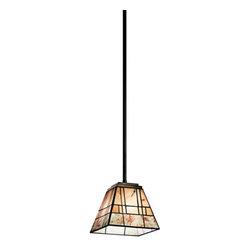 Kichler - Kichler 65318 Prairie Ridge Single-Bulb Indoor Pendant Pyramid-Shaped Shade - Product Features:
