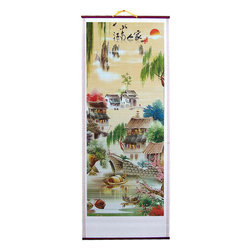 Oriental-Decor - Stone Bridge Chinese Scroll - Relive the charming history of ancient China with this Stone Bridge Chinese Scroll. Stone bridges are a remarkable part of China's proud and colorful history. These have not only been used in transporting goods and people from one end of a river to another, but have also been muted witnesses to the resiliency, hard work and devotion of the Chinese people. Apart from being architectural wonders that were ahead of their time, stone bridges were the setting of storied folk legends and stories. This Stone Bridge Chinese Scroll paints a handful of ancient Chinese stone bridges in vivid and attractive colors. You will instantly fall in love with this scroll with its elaborate and colorful images. You can keep this in your home and make it a perfect complementary piece to your living room. You can even give this as a gift to a friend, colleague or family member who can appreciate the beauty of ancient China.
