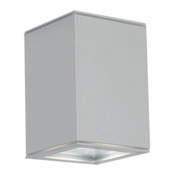 Eglo - Eglo 88573A 1 Light Flushmount Ceiling Fixture from the Tabo 1 Collection - (Bul - Eglo 88573A Tabo 1 1 Light Flush Mount Ceiling FixtureSimplicity and beauty combine to make this ceiling fixture from the Tabo 1 Collection a unique and beautiful piece. With its Cube Shaped housing with a sleek Silver Finish , this fixture will bring a modern and elegant look to any application.Eglo 88573A Features: