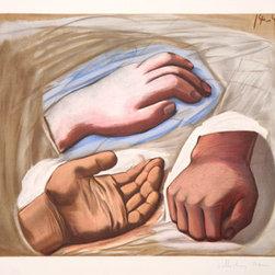Pablo Picasso Estate Collection Etude de Main Hand Signed with COA - PABLO PICASSO ESTATE COLLECTION