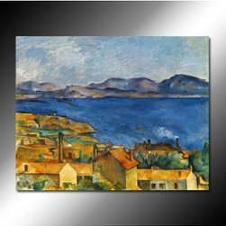 The Bay of Marseilles, Seen from L'Estaque Oil Painting by Paul Cézanne - The Bay of Marseilles, Seen from L'Estaque Oil Painting by Paul Cézanne