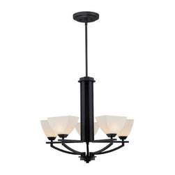 Quoizel - Quoizel EBN5005K - Ebony 5 light rod hung chandelier. Uses (5) 75w frosted G9Halogen bulbs (supplied)