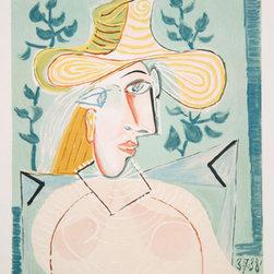 Pablo Picasso Estate Collection Femme a la Collerette Hand Signed with COA - PABLO PICASSO ESTATE COLLECTION