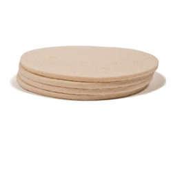 The Felt Store - 4 Pack Designer Felt Coasters, White - Our Designer Felt Coasters are made of 100% Merino Wool. Available in a variety of colors, there's no doubt that these eco-friendly coasters will add a touch of style to any room, while protecting your furniture from moisture. The coasters measure at 4 inches across. Made in Canada.