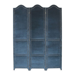 Anna Sophia Screen by Windsor Smith Home - This upholstered screen can serve in the old-fashioned way: as a private corner for modest people to change clothes, to divide a space in an open floor plan, or behind the bed as a dramatic headboard.