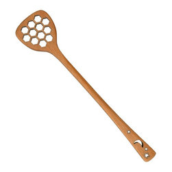 MoonSpoon® - Beestick™ - Honey Stick, Celestial Design - Can you bee-lieve it? This smart slotted stick is designed to catch dripping honey and spread it with ease. But you'll no doubt come up with other uses for this ingenious utensil, too.