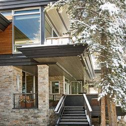 Aluminum Clad Windows and Doors - Luxury mountain home features aluminum clad windows and doors throughout.   Photo credit Derek Skalko Studios.