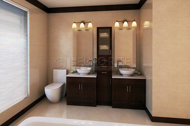 Traditional bathroom by euro rite cabinets ltd