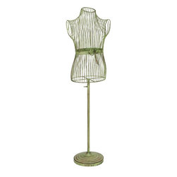 """Benzara - Metal Mannequin Stand For Better Display - If you are left with small space in your room and you want to use this space purposely, have a look over 56733 Wood Jewelry Holder. It will help to display the Jewelry collection with real look.; Material: Rust free premium grade metal alloy; Color: Gray as shown in picture; Exhibits special liking for home- showroom decoration; Designed for elite class decor enthusiasts; Classic; Dimensions: 50""""H x 15""""W"""