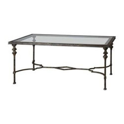 Uttermost - Uttermost Quillon Glass Coffee Table - 24364 - Uttermost's tables combine premium quality materials with unique high-style design.