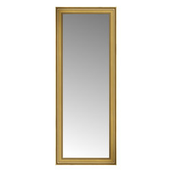 """Posters 2 Prints, LLC - 29"""" x 72"""" Arqadia Gold Traditional Custom Framed Mirror - 29"""" x 72"""" Custom Framed Mirror made by Posters 2 Prints. Standard glass with unrivaled selection of crafted mirror frames.  Protected with category II safety backing to keep glass fragments together should the mirror be accidentally broken.  Safe arrival guaranteed.  Made in the United States of America"""