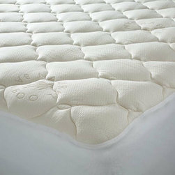 DownDeals Twin XL Dorm Bamboo Plush-Top Mattress Pad - I know my niece will want a plush mattress topper for her dorm bed. I think one of these will make your favorite college student have some sweet dreams — that is when they find time to sleep.