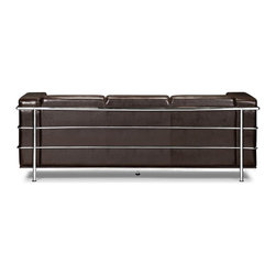 Zuo Modern - Zuo Modern Fortress Modern Sofa X-232009 - A Mid-Century classic series, the Fortress comes with leather seating, leatherette back and side with a chrome steel tube frame. It comes in black, white or espresso.