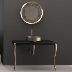 MaestroBath - Designer Bathroom Console | Luxury Bathroom Vanity - Besides very elegant and contemporary design, this luxury Italian bathroom console is made of wood and is extremely durable. The top finish is glossy black paint, and legs finish of this contemporary bath console is leaf paint. Leg colors are available in gold leaf, silver leaf, and copper leaf. Free shipping is offered in all United States Here is more information related to MaestroBath: Services Provided: Luxury Handmade Italian Vessel Sinks, Modern and Contemporary Kitchen and Bath Fixtures .. Areas Served: All United States and International Countries… Business Description: Maestrobath delivers contemporary and modern handmade Italian bathroom sinks and designer faucets to clients with taste of luxury. It carries a wide selection of beautiful and unique Travertine, Crystal and Glass vessel sinks in variety of colors and styles. Maestrobath services homeowners and designers Globally. Furthermore, it has dealer partners across United States and international countries.