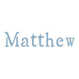 """Stencil Ease - Matthew Stencil - Matthew - Rustic Style Name Stencil Popular Kid's Names for stenciling rooms furniture clothes bags and school supplies. Purchase a durable reusable laser cut plastic stencil with your childs name to use for any stenciling project. Name stencils will last for years and can be used on any surface. These reusable name stencils can be colored with any kind of paint chalk ink spray stain or coloring. Have fun stenciling your kid's room new and old furniture basement walls floors or team clothing. If you don't see the name or letter style you would like you can quickly create your own custom-made stencil using our custom lettering stencil service. Choose your size from 2"""" to 10"""" size below: You may also order a large 22"""" Monogram letter M"""" below Letter heights are based on ascenders and descenders (extend above mid-line and below baseline)."""""""
