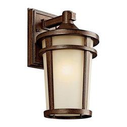 Kichler Lighting - Kichler Lighting 49072BSTFL Atwood Transitional Outdoor Wall Light - Medium - Kichler Lighting 49072BSTFL Atwood Transitional Outdoor Wall Light - Medium In Brown Stone