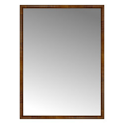 """Posters 2 Prints, LLC - 57"""" x 77"""" Belmont Light Brown Custom Framed Mirror - 57"""" x 77"""" Custom Framed Mirror made by Posters 2 Prints. Standard glass with unrivaled selection of crafted mirror frames.  Protected with category II safety backing to keep glass fragments together should the mirror be accidentally broken.  Safe arrival guaranteed.  Made in the United States of America"""