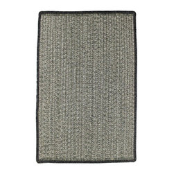 Homespice - Homespice Treehouse Braided Rectangle Rug - Variegated shades of grey-green add interesting texture and an invitation to sit back and relax. There is no need to compromise beauty for durability. Our Ultra Durable indoor/outdoor rugs are amazing. They resist stains from food, pets, and liquids, while adding color, texture and interest to all your living spaces. This amazing absorbent material leaves the surface below dry with most moderate spills. To clean, simply run under water in your sink or use a hose. These Ultra Durables are thinner and flatter and feature a vertical braid with anti-skid backing. Perfect for kitchens, baths, and entry ways.