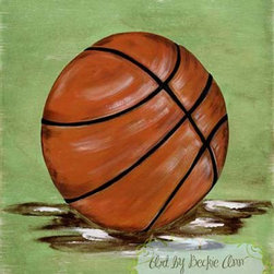 William's Basketball Boys Kids Sports Canvas Art - This piece captures the spirit of every boys favorite past-time, baseball! This piece is simply timeless, enjoyed by both the young and the young at heart.