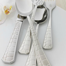 """Lauren Ralph Lauren """"Crocodile"""" Flatware - And you thought you couldn't get an animal pattern on your table."""