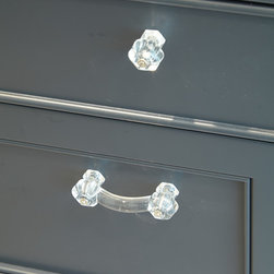 Transitional Kitchen Addition - Clear Hex Knobs by Lee Valley Hardware