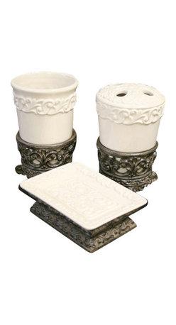 Drake Design - Drake Design Cream Bathroom Accessory Set - Cream Bathroom Accessory Set