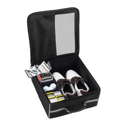 Picnic at Ascot - Golf Trunk Organizer, Black - Golf trunk organizer provides storage for shoes, balls, spikes, gloves, tees, and towel. Acts like a golf locker in the car. Ventilation area over the shoe compartment. Folds flat for shipping and storage. Designed and assembled in the USA. Lifetime warranty.